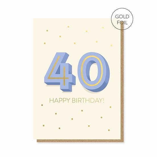 Birthday 40 Card