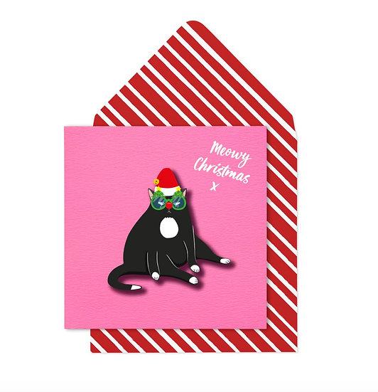 Grumpy Chrismas Cat Card
