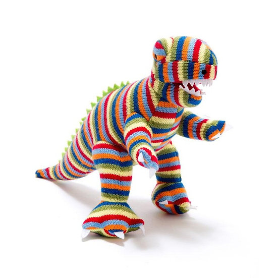 Stripey Knitted T-Rex