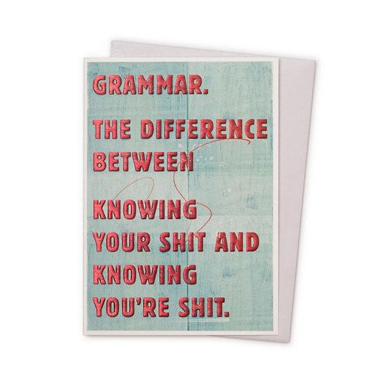 Grammar Card