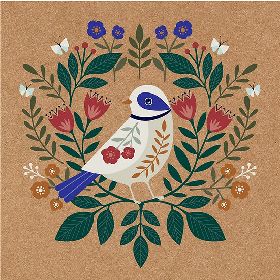 Floral Dove Card