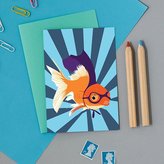 Superhero Goldfish Card