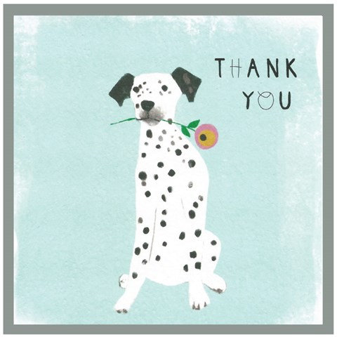 Thanks Dalmation Card