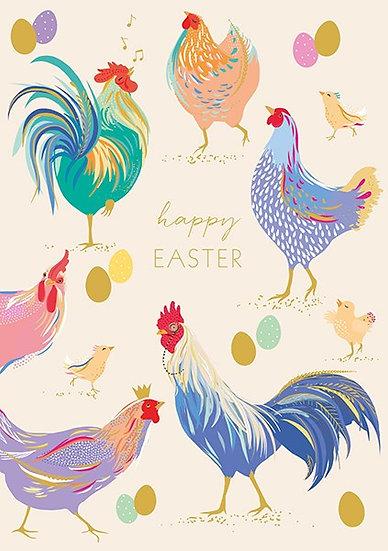 Easter Hens Card
