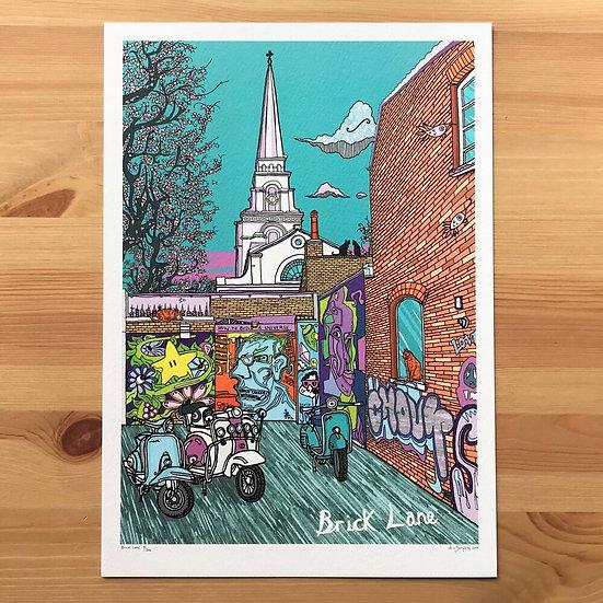 Brick Lane Print by Adam Doughty