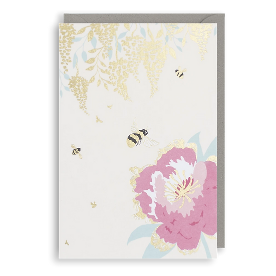 Gold Bees Card