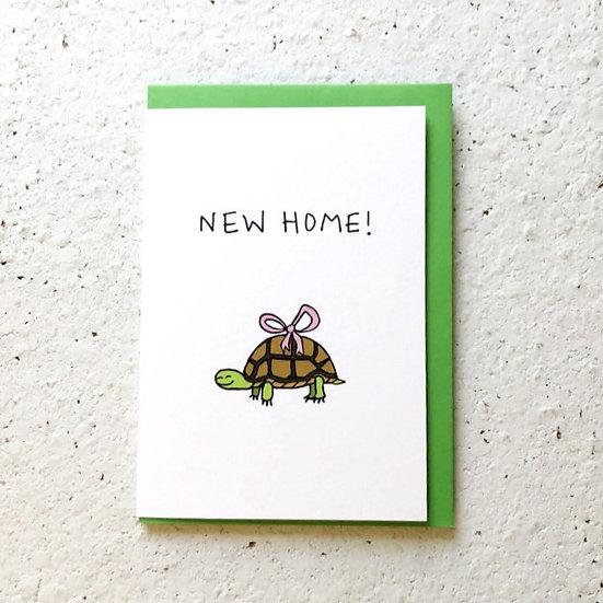 New Home Tortoise Card