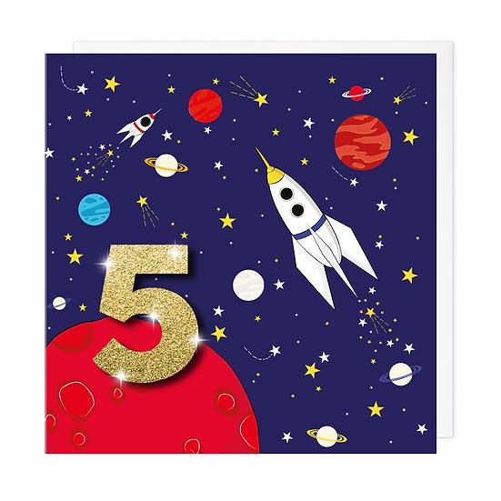 Age 5 Rocket Card