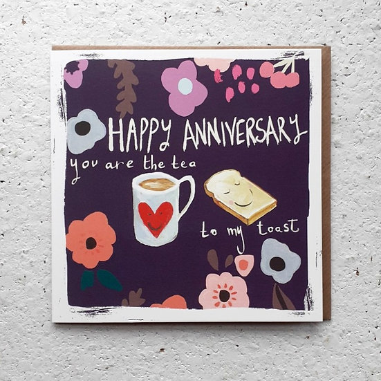 Tea Anniversary Card