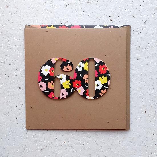 Floral 60 Card