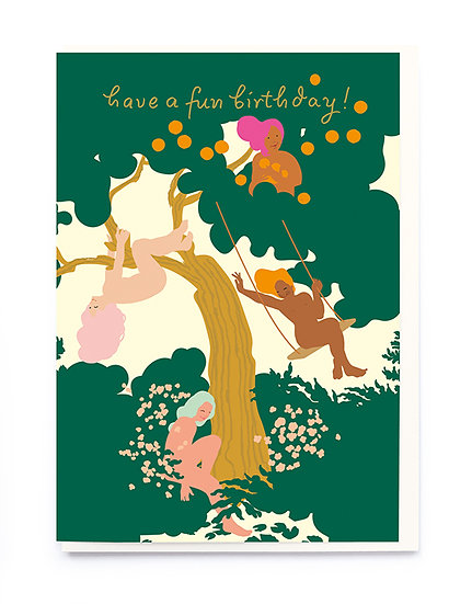 Woodland Party Card