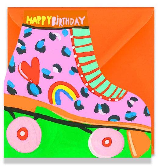 Roller Skate Birthday Card