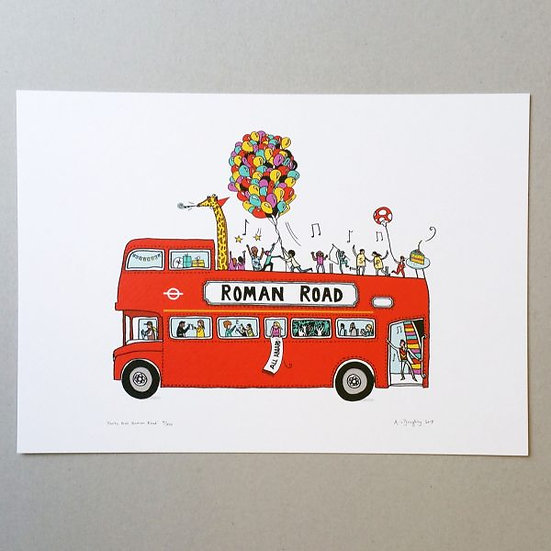Roman Road Party Bus Print