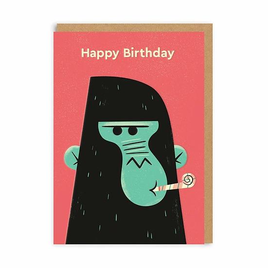 Birthday Gorilla Card