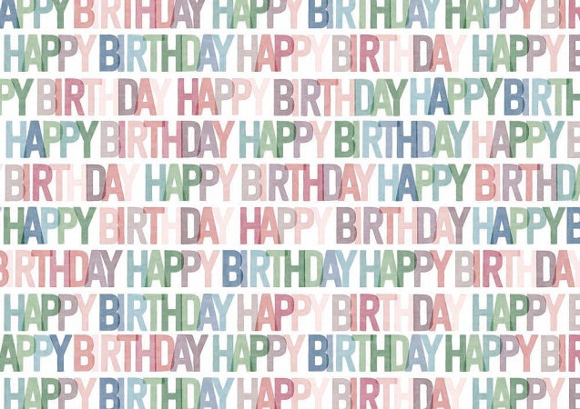 Happy Birthday Wrap x2 Sheets