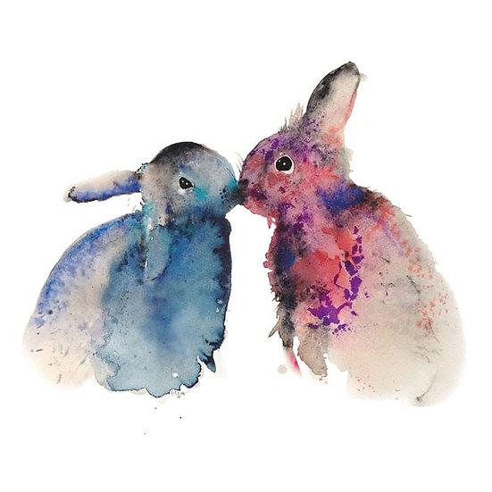 Bunnies in Love Card