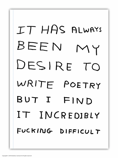 David Shrigley Poetry Notebook A5