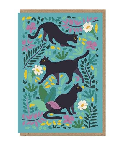 Black Cats Card