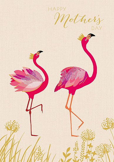 Mother's day Flamingos Card