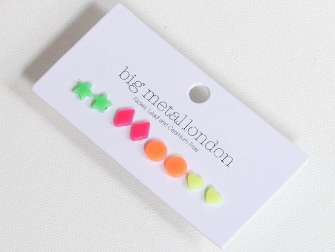 Neon Resin Earring Set