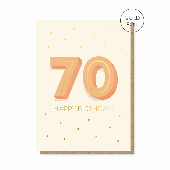 Birthday 70 Card