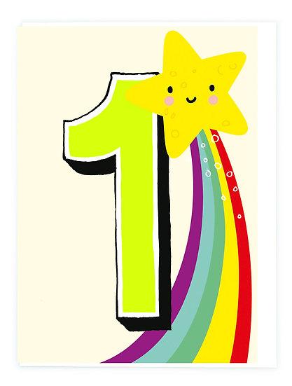 Age 1 Rainbow Card