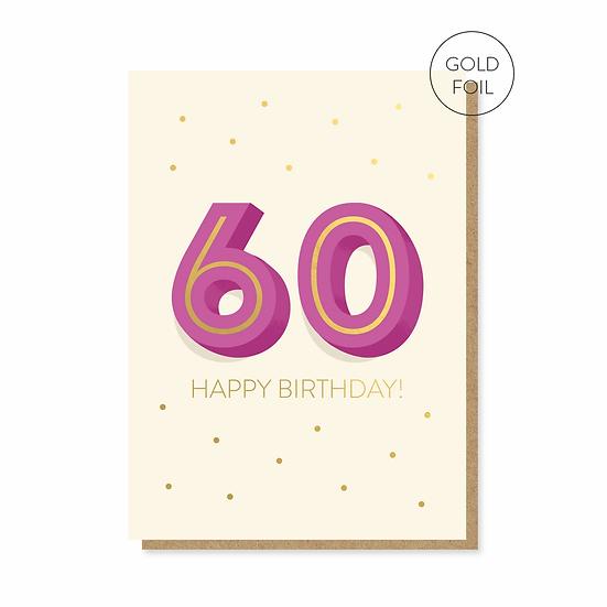 Birthday 60 Card