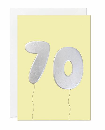 70 Balloon Card