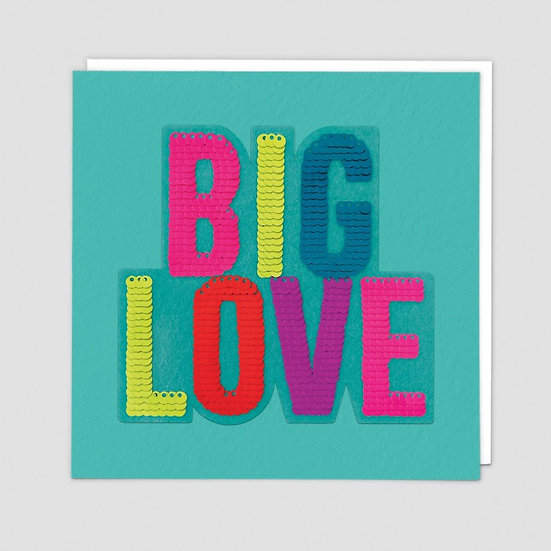 BIG LOVE Sequin Card