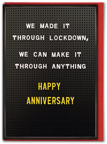 Lockdown Anniversary Card