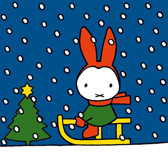 Miffy Sledging Christmas Card Pack