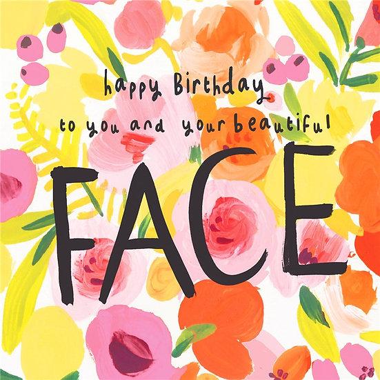 Beautiful Face Birthday Card