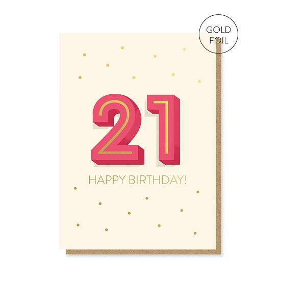 Birthday 21 Card