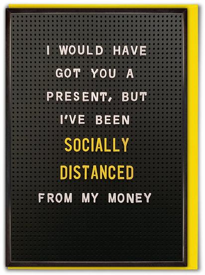 Socially Distanced Birthday Card