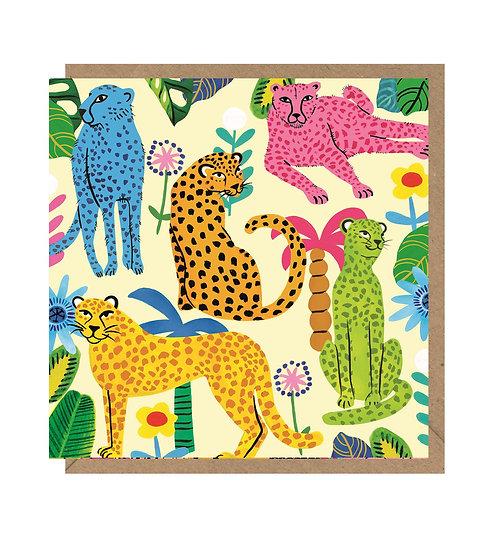 Rainbow Leopard Card