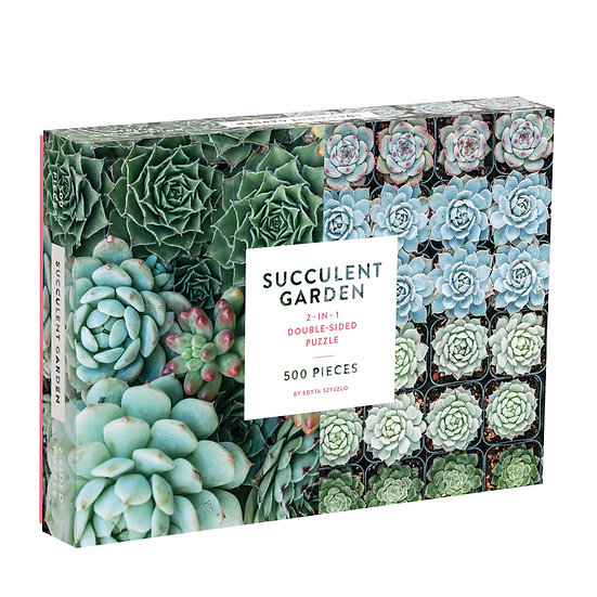 Succulent Garden Double Sided 500 Piece Puzzle
