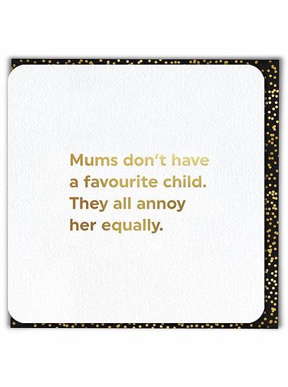 Favourite Child Card