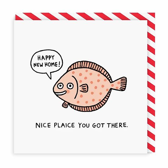 Nice Plaice New Home Card