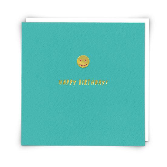 Smiley Badge Card