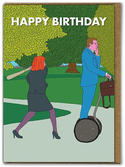 Segway Bat Birthday Card