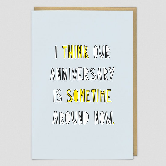 Approximate Anniversary Card