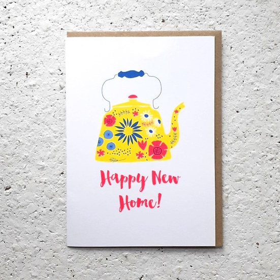 New Home Teapot Card