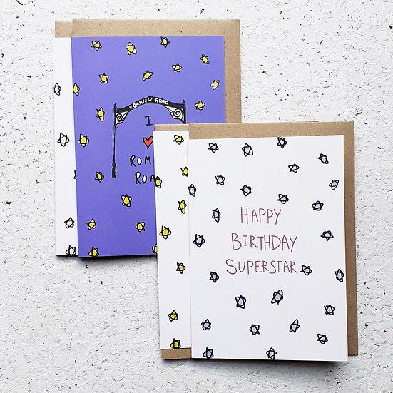 Birthday + Roman Road Card Set