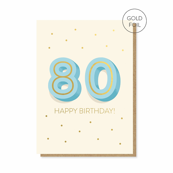 Birthday 80 Card