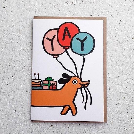 Yay Dog Birthday Card