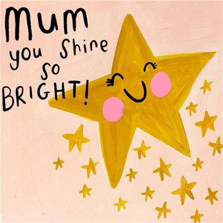 Bright Star Mum Card