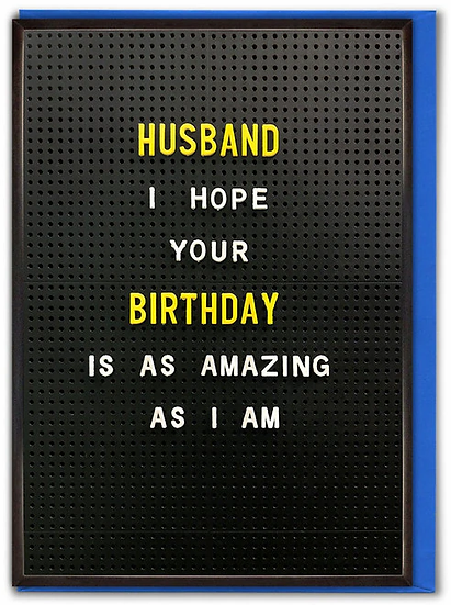 Amazing Husband Birthday Card