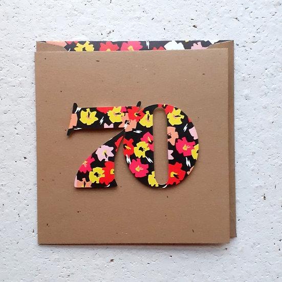 Floral 70 Card