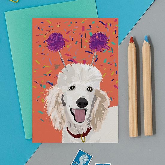 Deely Bopper Poodle Card