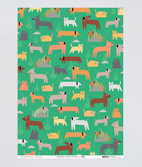 Cat and Dog Wrap x2 Sheets